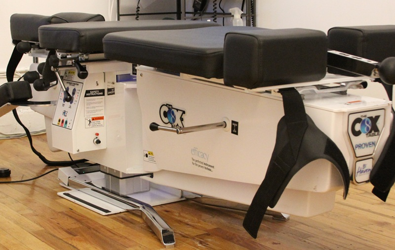 The best chiropractors in New York City use Cox Technic force table in NYC to provide the safest, most proven and researched flexion distration therapy for patients suffering from back pain, herniated disc, sciatica and bulging discs